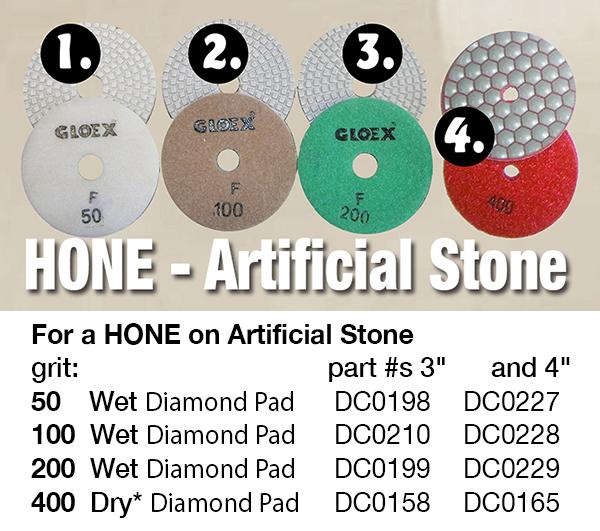 hone artificial stone